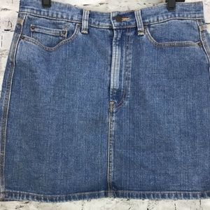 Levis Red Tab Classic High Waist Denim Jean Skirt